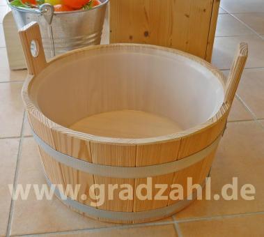 sauna pool shop fu wanne l rchenholz natur inkl kunststoffeinsatz online kaufen. Black Bedroom Furniture Sets. Home Design Ideas